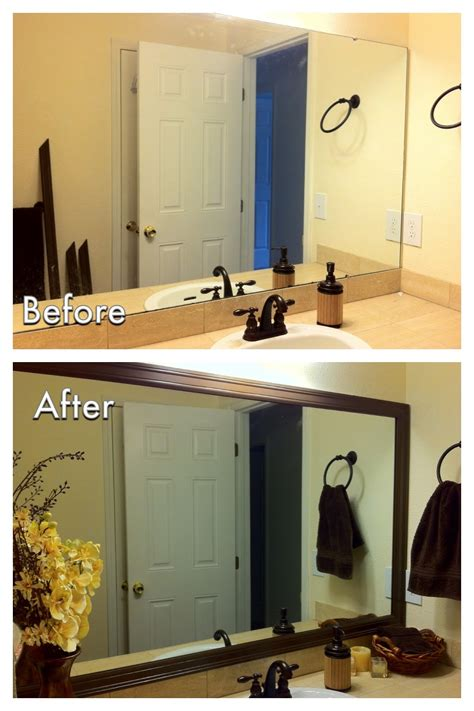 Framing Bathroom Mirrors Diy by Miscellanea Etcetera Diy Bathroom Mirror Frame For Less