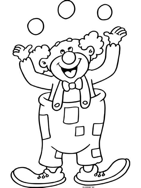 Kleurplaat Clown Met Ballonnen by Kleurplaat Vrolijke Clown Kleurplaten Nl