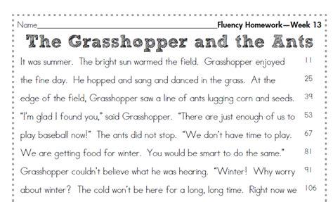 2nd grade fluency homework homework common cores and window