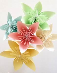 Origami Fleur Coeur D étoile : diy fleurs origami id e bapt me origami diy et ~ Melissatoandfro.com Idées de Décoration