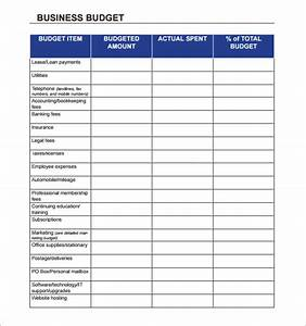 10 sample business budget templates sample templates With corporate budget template excel
