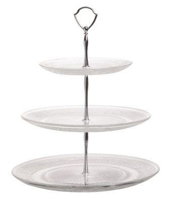 Cosy & Trendy Etagere Retro Glas Rond 3 Laags Cookinglifebe