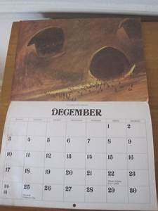 Rare Frank Herbert  U2018dune U2019 Calendar From 1978 Works For 2017