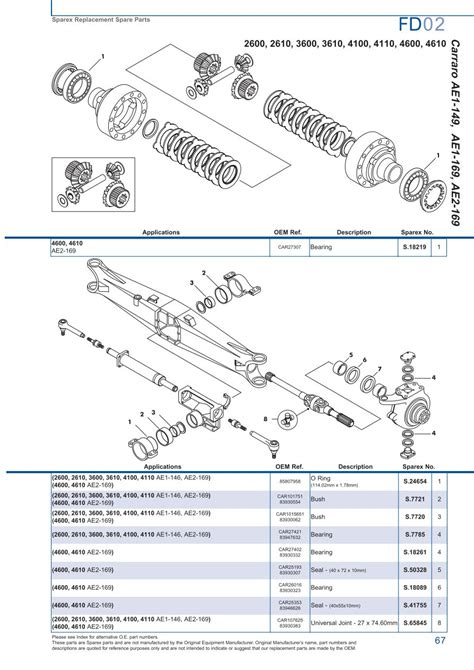 Mazda 121 Fuse Box Diagram by Ford Front Axle Page 73 Sparex Parts Lists Diagrams