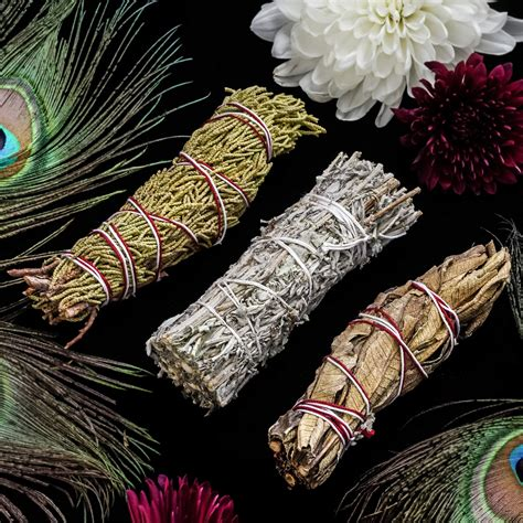 Smudge Bundle Trio for a variety of sacred herbs to purify your space