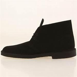 Clarks Men Desert Boot black black suede