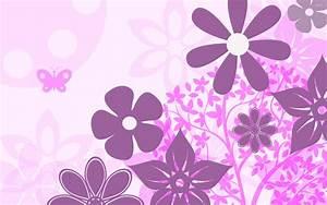 Purple flowers wallpaper - Vector wallpapers - #21861