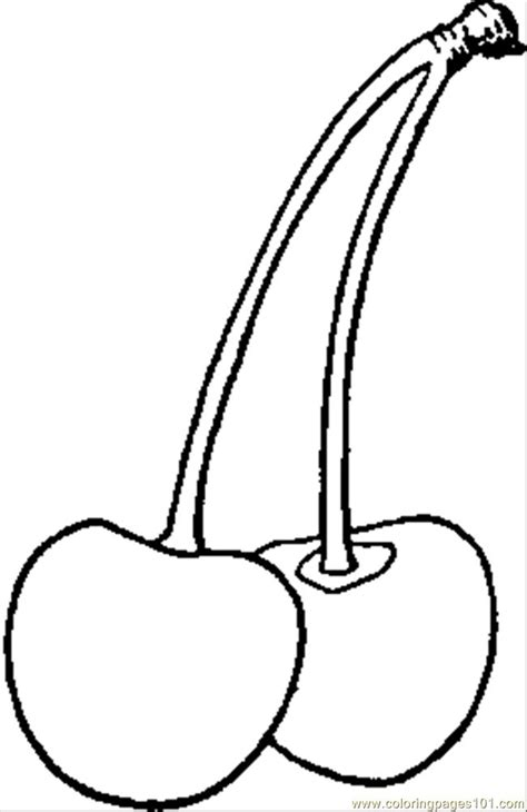 roberts red heart cherry coloring page  cherries