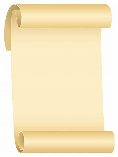 Scroll Transparent Clipart Background Scrolls Clip Paper