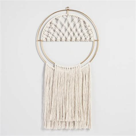 Macrame Dreamcatcher Wall Hanging   World Market