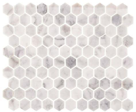 carrara marble polished 1 quot hexagons backsplash wall