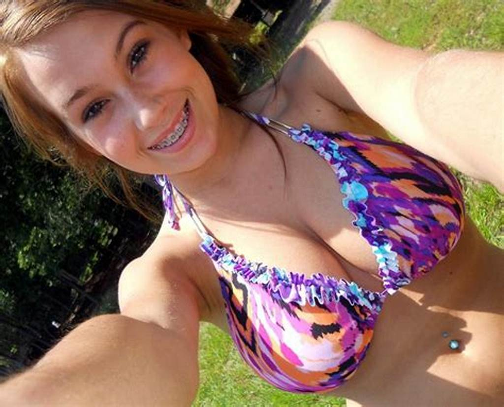#Busty #Teen #With #Braces #In #Bikini