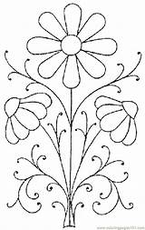 Pattern Embroidery Flower Coloring Printable Pages Patterns Flowers Floral Template Designs Punch Needle Simple Paint Stencil Easy Painting Hand Canvas sketch template