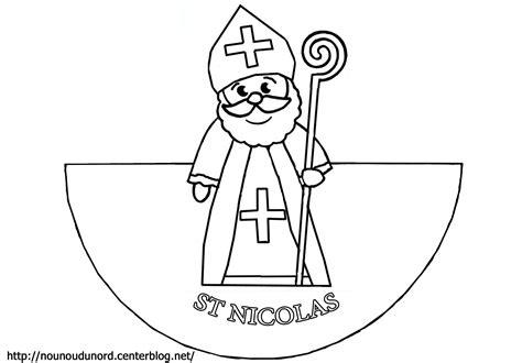 Dessin Colorier Saint Nicolas Imprimer Gratuit