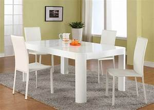 Attachment white dining room table set (1078) - Diabelcissokho