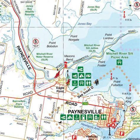 gippsland lakes map hema maps  shop