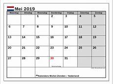 Kalender mei 2019, Nederland Michel Zbinden nl