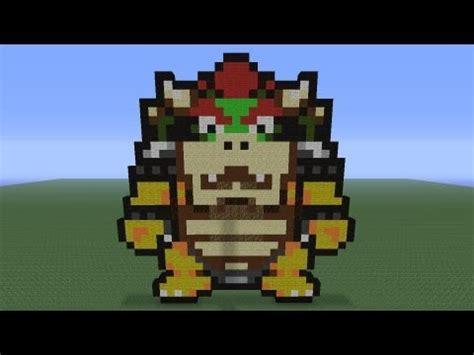 minecraft pixel art bowser tutorial youtube