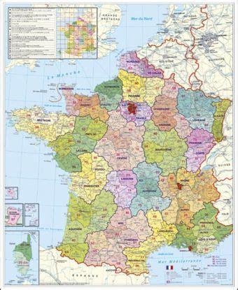 stiefel wandkarte grossformat frankreich postleitzahlen