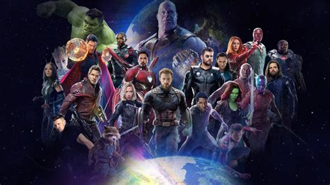 avengers infinity war   characters fan poster full