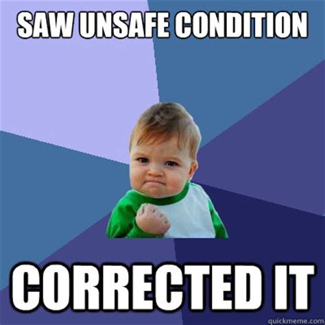 Funny Safety Memes - success kid work related pinterest success kid safety and workplace safety
