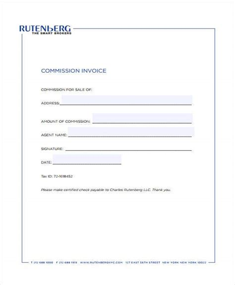 real estate invoice templates  word