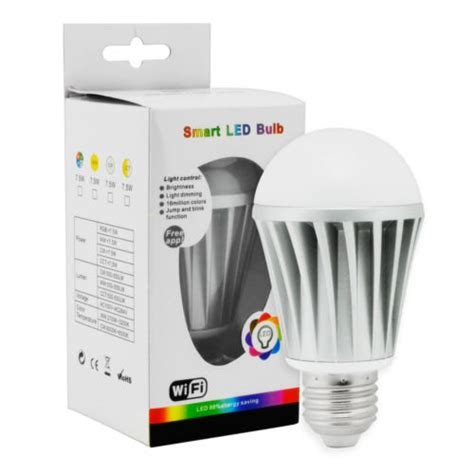 new wifi bluetooth controlled led color smart light bulb