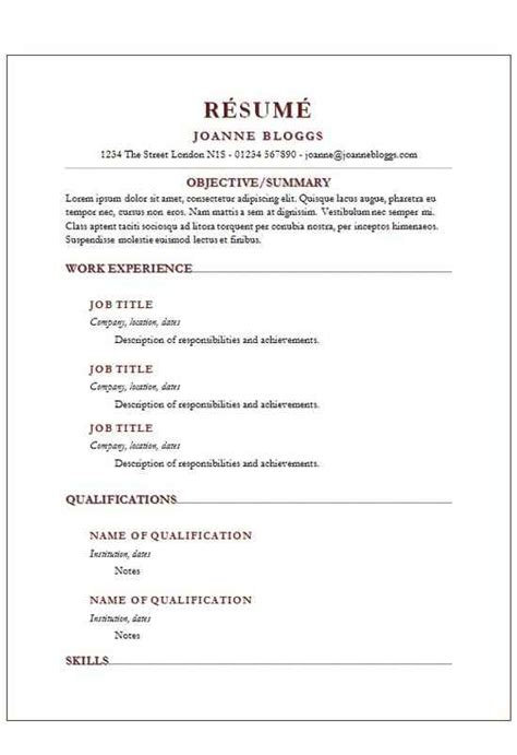 Write A Resume Template by Burgundy Shadows Cv R 233 Sum 233 Template Cv Template Master