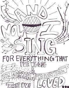 Coloring Lyrics by I Draw Band Lyrics Coloring Pages Lyric Drawings Band