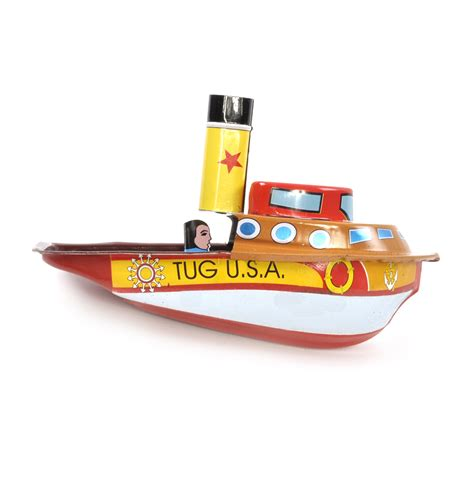 Toy Boat Powered By Candle by Tug Boat Pop Pop Boat Classic Candle Powered Tin Toy Ebay