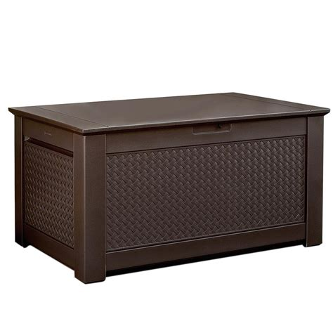outdoor ls home depot rubbermaid patio chic 93 gal resin basket weave patio