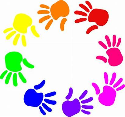 Nursery Clipart Hands Circle Colorful Clip Church
