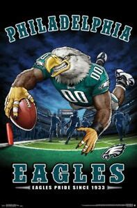 philadelphia eagles  zone mascot poster  nfl