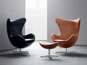Buy the fritz hansen egg lounge chair leather at nestcouk for Fritz hansen egg chair