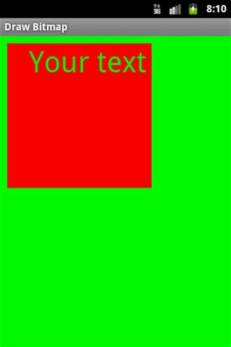 how to create a text on android create bitmap and draw text into bitmap android exle