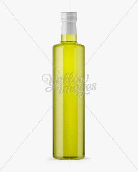Olive oil bottle banner template, glass blank flask floating in liquid green flow with leaves and berries. Download 750ml Clear Glass Olive Oil Bottle Mockup PSD ...
