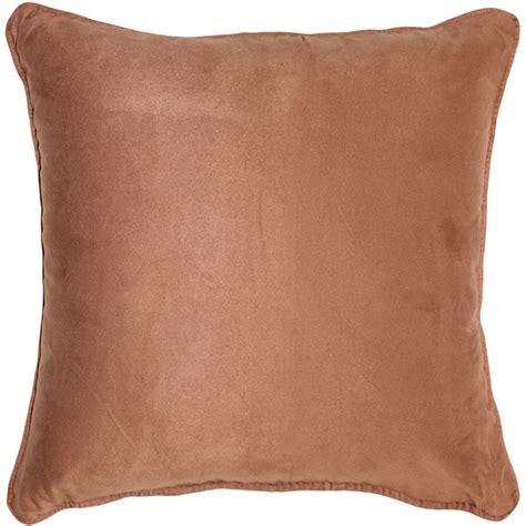 brown throw pillows sedona microsuede light brown throw pillow 22x22 from