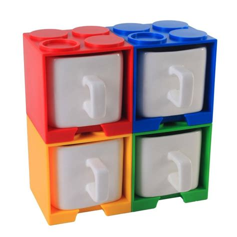 / we all have a coffee mug that we simply adore. Cube Coffee Mug With Lego Shaped Stackable Storage Container
