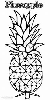 Pineapple Coloring Pages Drawing Outline Printable Fruit Cool2bkids Drawings Fruits Getdrawings Cute Print Children Easy Tart sketch template