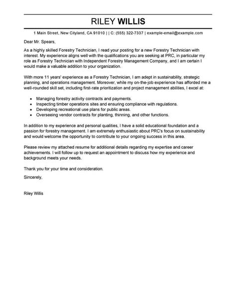 agriculture environment cover letter samples