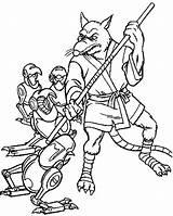 Coloring Ninja Splinter Master Turtles Fighting Robot Drawings Getcolorings Printable Getdrawings 81kb 750px sketch template