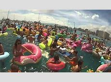 NYD Inflatable beach party at Milk Beach, Vaucluse, Sydney