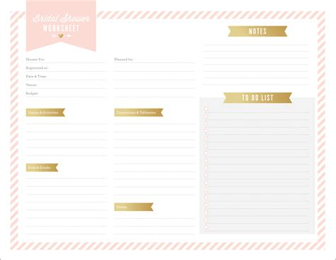 Bridal Shower Preparation by Bridal Shower Planning Spreadsheet Pertaining To Free