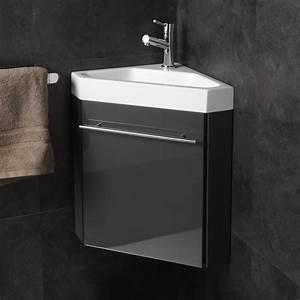 meuble lave main de coin gris pas cher planetebain With meuble lave main