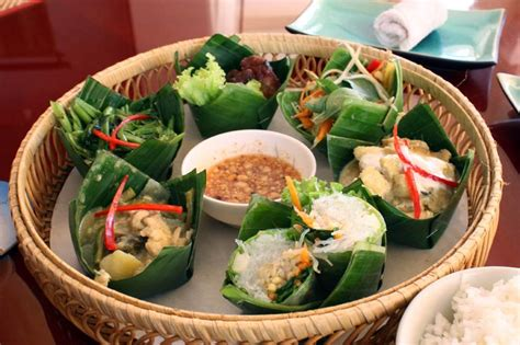 cuisine khmer khmer food platter at angkor palm restaurant food cups