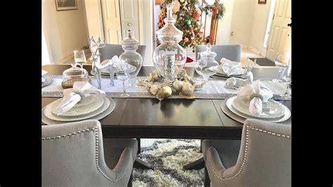new christmas dinner table decor setup 2017 youtube