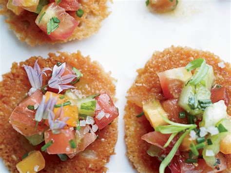 Tuiles Parmesan by Parmesan Tuiles With Heirloom Tomato Salad Recipe Grace