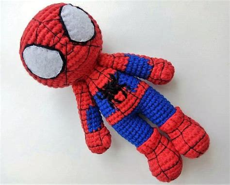 Spiderman Crochet Doll Amigurumi Spider-man Toy Inspired