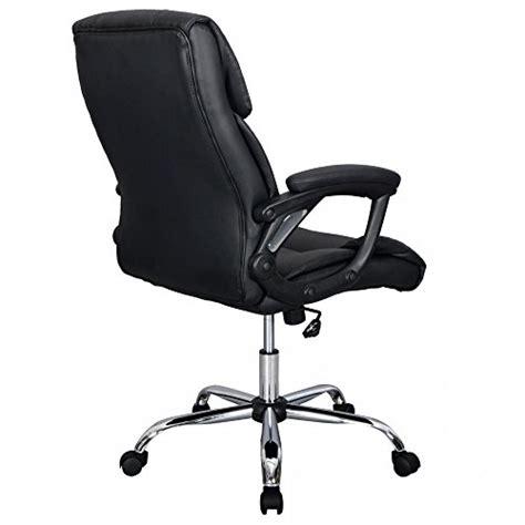 black pu leather ergonomic high back executive best desk