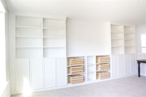 how to build a built in bookcase with doors diy built ins from ikea bookcases orc week 2 bless 39 er